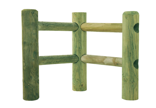 Scierie guedon barriere bois rond am nagements for Bois pour barriere exterieur